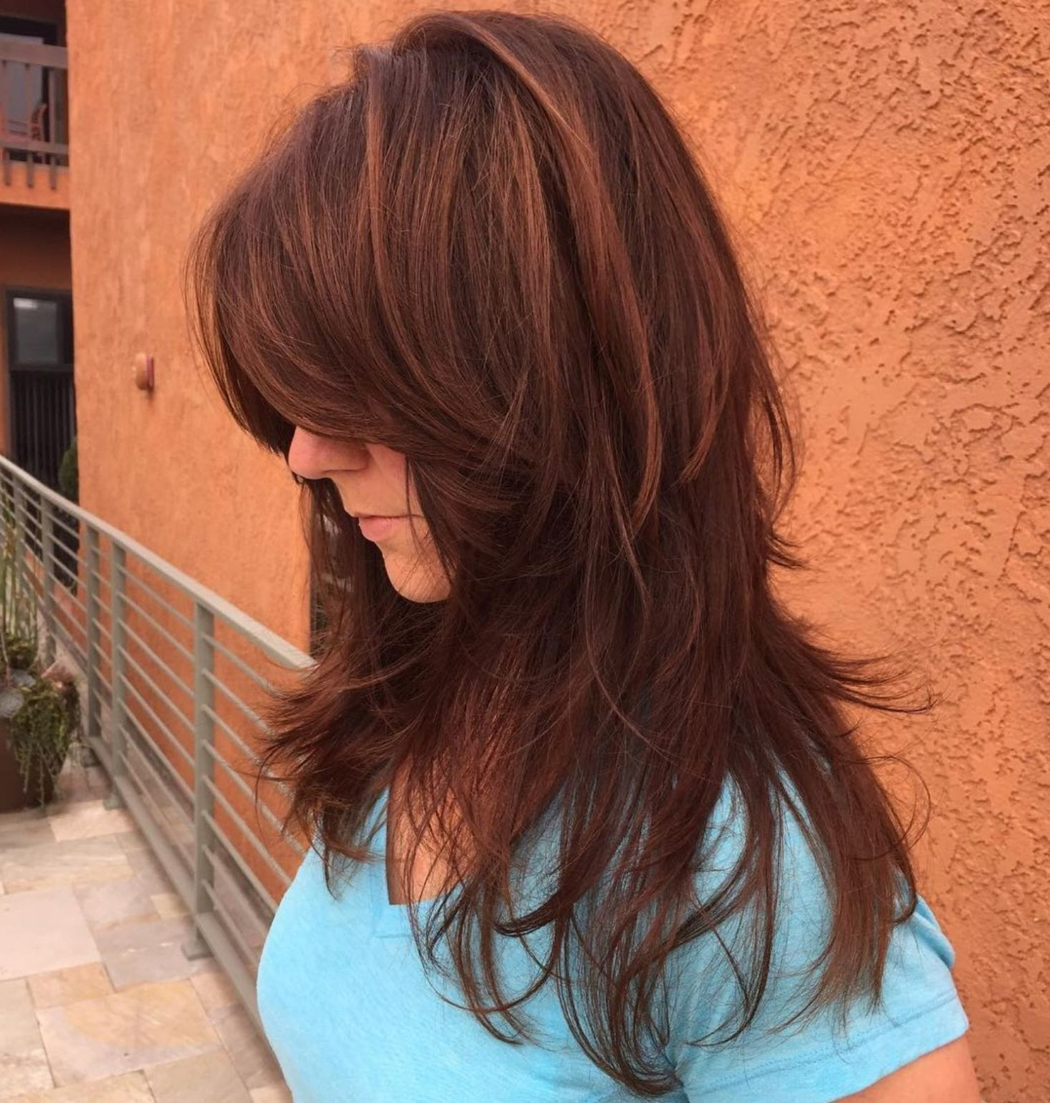 60 Lovely Long Shag Haircuts For Effortless Stylish Looks Within 2019 Warm Toned Wavy Brunette Shag Hairstyles (View 14 of 20)