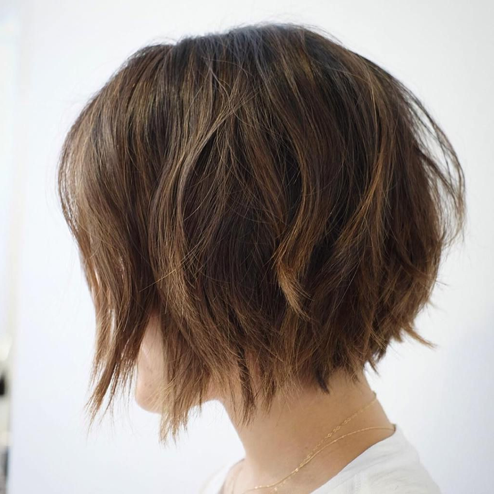 60 Messy Bob Hairstyles For Your Trendy Casual Looks In 2019 Throughout Jaw Length Choppy Bob Hairstyles With Bangs (View 2 of 20)