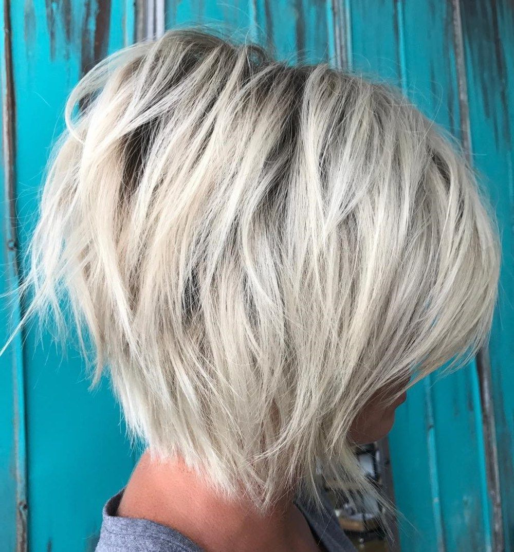 60 Most Beneficial Haircuts For Thick Hair Of Any Length Intended For Razored Two Layer Bob Hairstyles For Thick Hair (View 2 of 20)