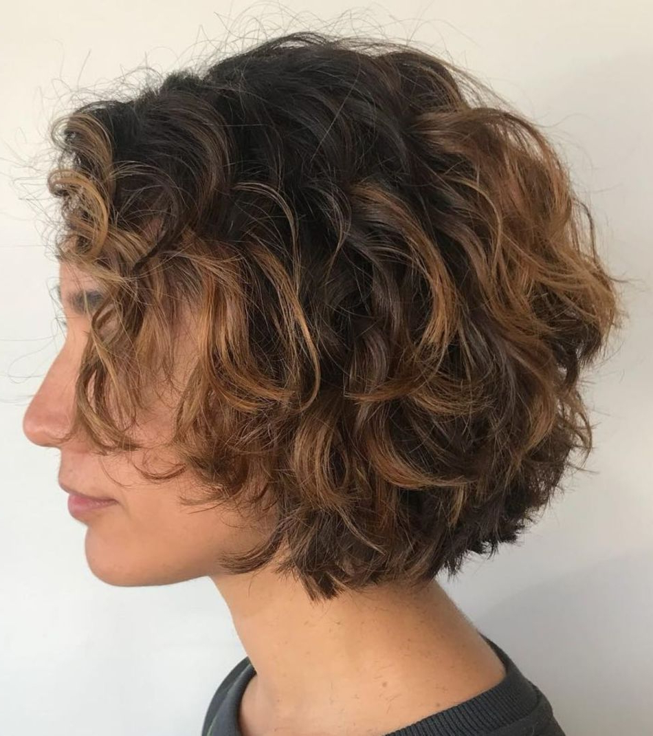 60 Most Delightful Short Wavy Hairstyles | Short Layered Intended For Textured Curly Bob Haircuts (Gallery 1 of 20)