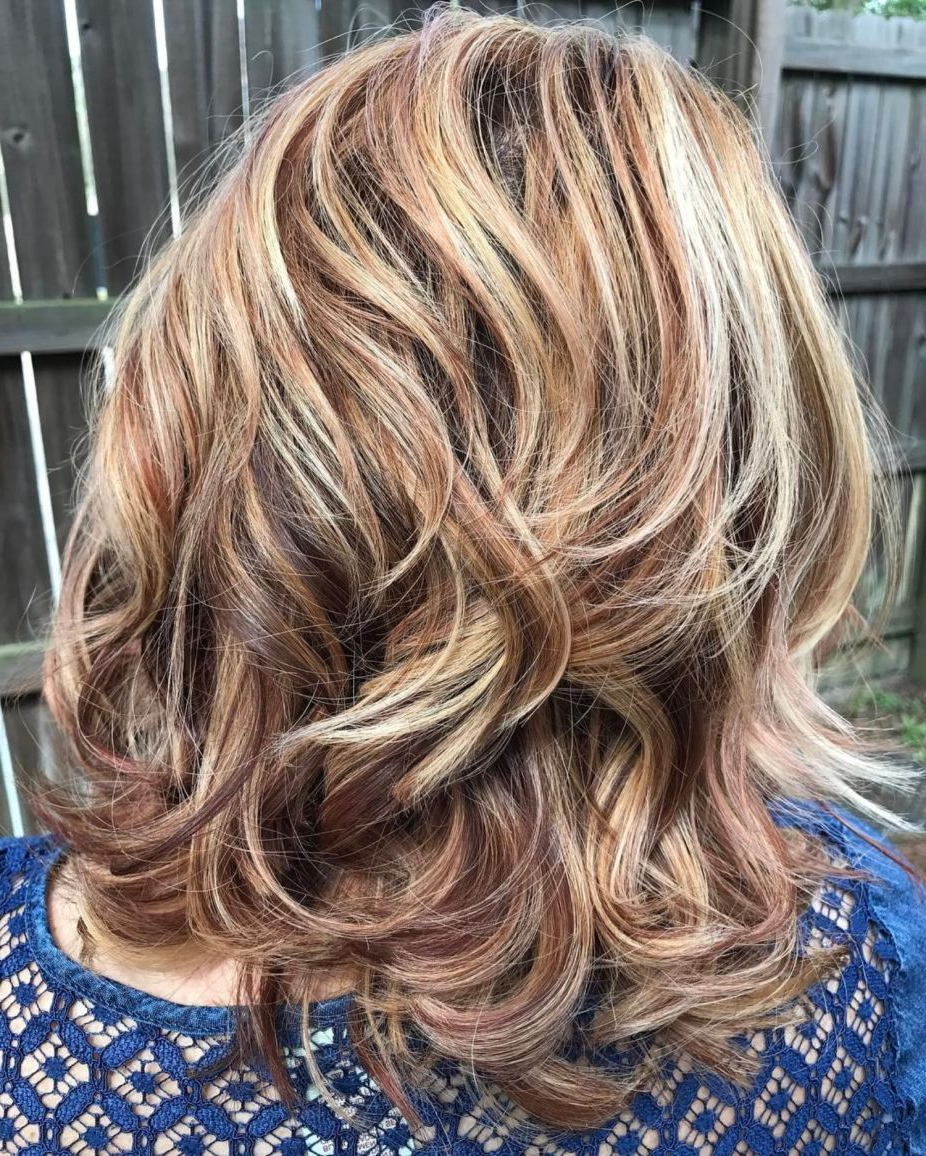 60 Most Magnetizing Hairstyles For Thick Wavy Hair In 2019 In Most Up To Date Medium Silver Layers Hairstyles (View 11 of 20)