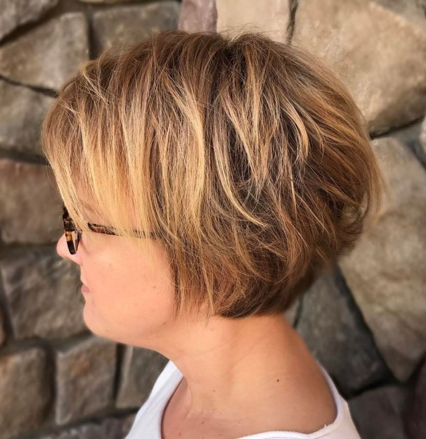 60 Most Prominent Hairstyles For Women Over 40 In 2019 Regarding Most Recently Released Razored Blonde Bob Haircuts With Bangs (View 11 of 20)