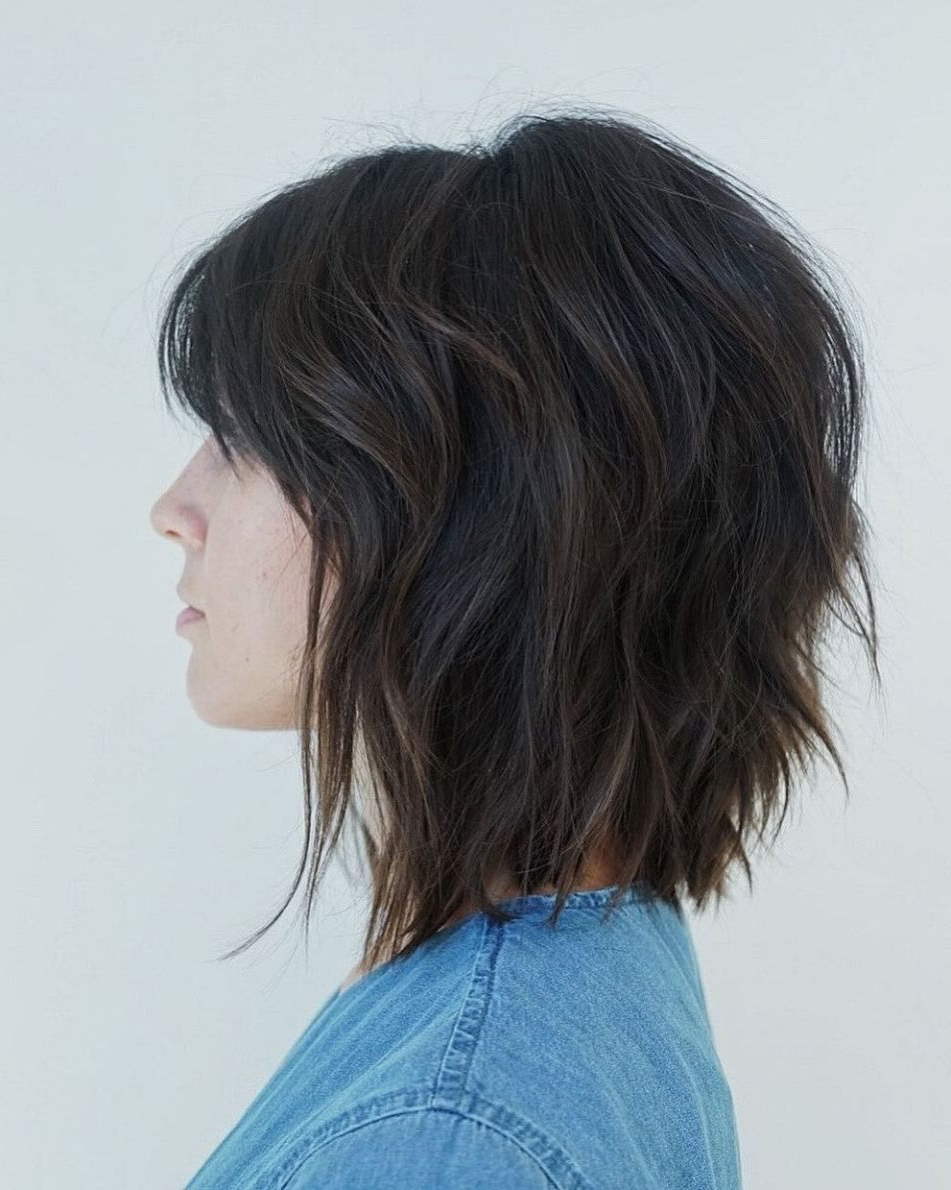 Featured Photo of Pretty Shaggy Brunette Bob Hairstyles