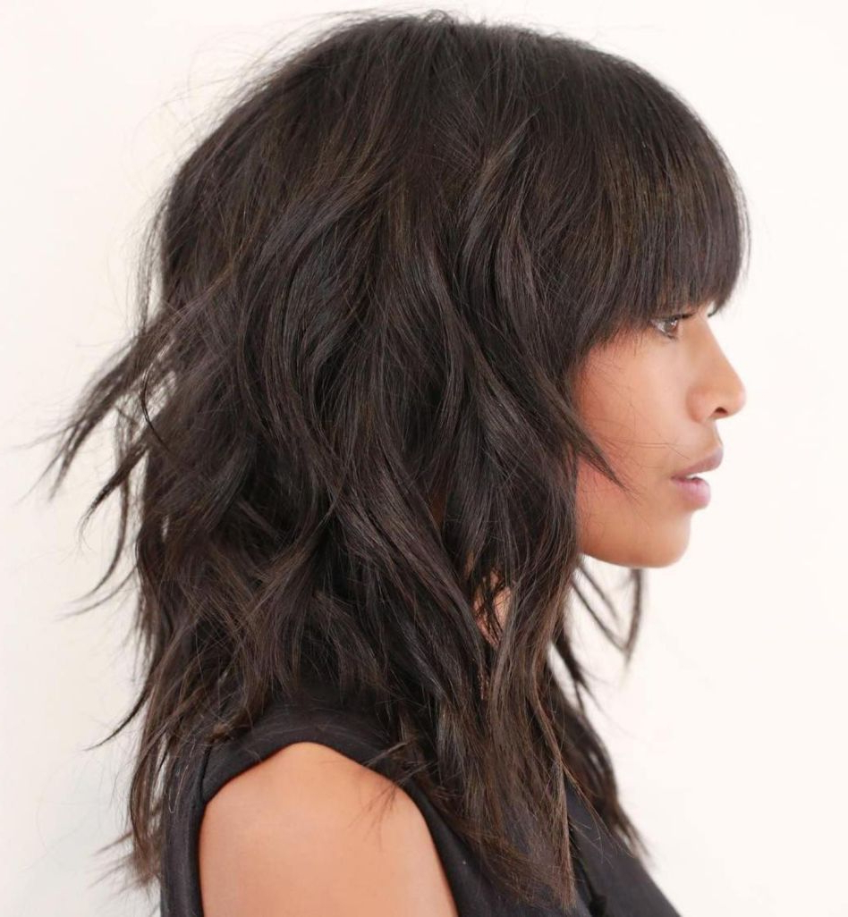 60 Most Universal Modern Shag Haircut Solutions In 2019 Pertaining To Well Known Perfect Bangs And Wild Layers Hairstyles (Gallery 1 of 20)