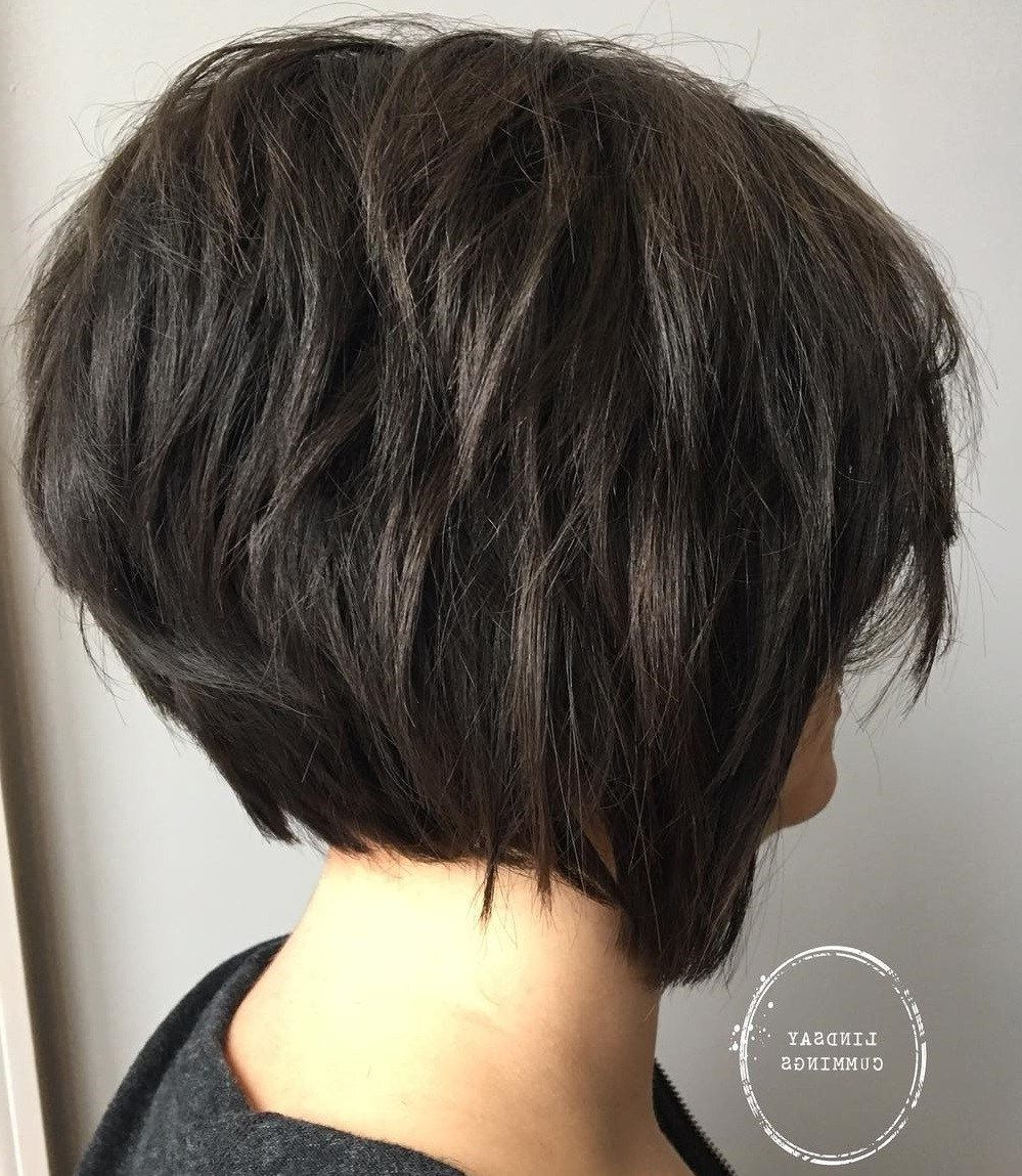 60 Short Shag Hairstyles That You Simply Can't Miss | Hair In Short Shaggy Brunette Bob Hairstyles (View 2 of 20)