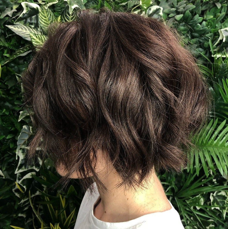 Featured Photo of Chin Length Chocolate Bob Shag Haircuts