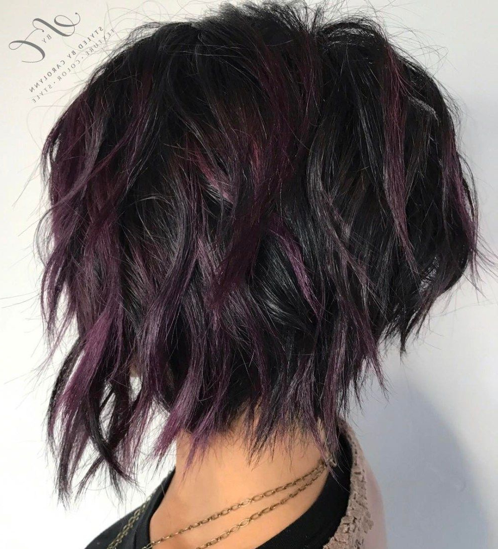 Featured Photo of Short Shag Haircuts With Purple Highlights