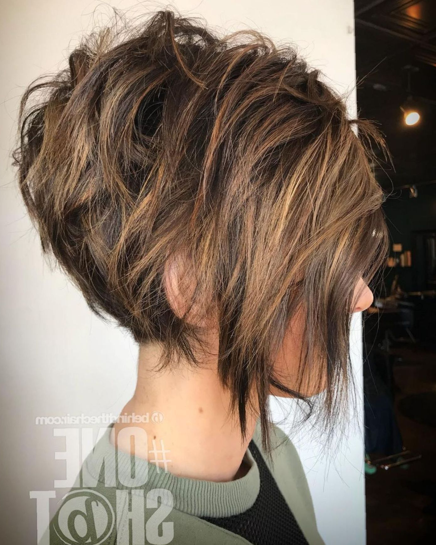 60 Short Shag Hairstyles That You Simply Can't Miss | Hair Within Short Shaggy Brunette Bob Hairstyles (View 7 of 20)