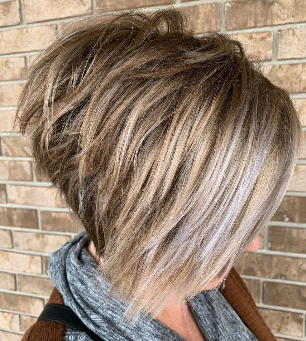 Featured Photo of Bronde Bob Shag Haircuts With Short Back
