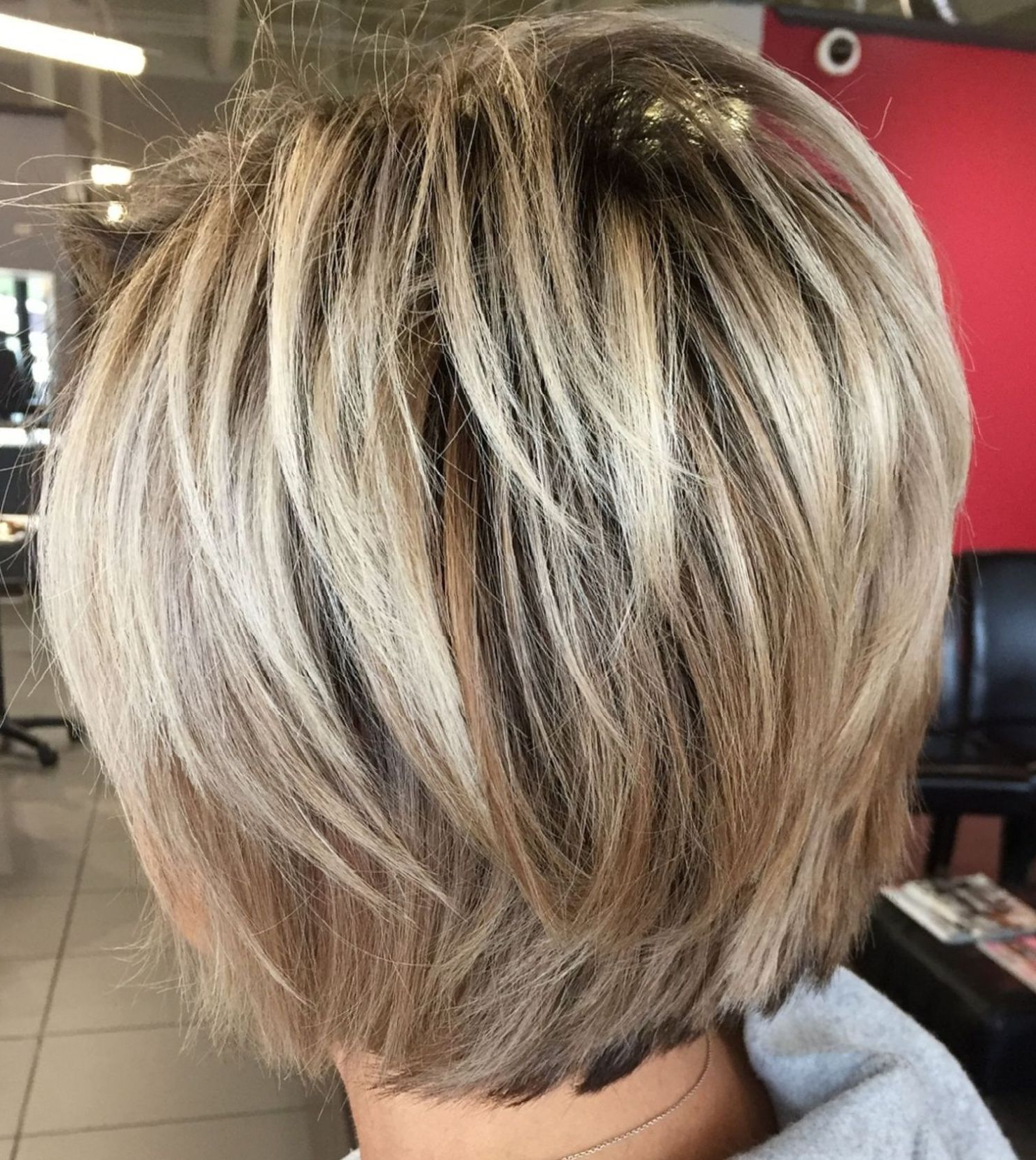 60 Short Shag Hairstyles That You Simply Can't Miss In 2019 In Blonde Bob Hairstyles With Shaggy Crown Layers (View 12 of 20)