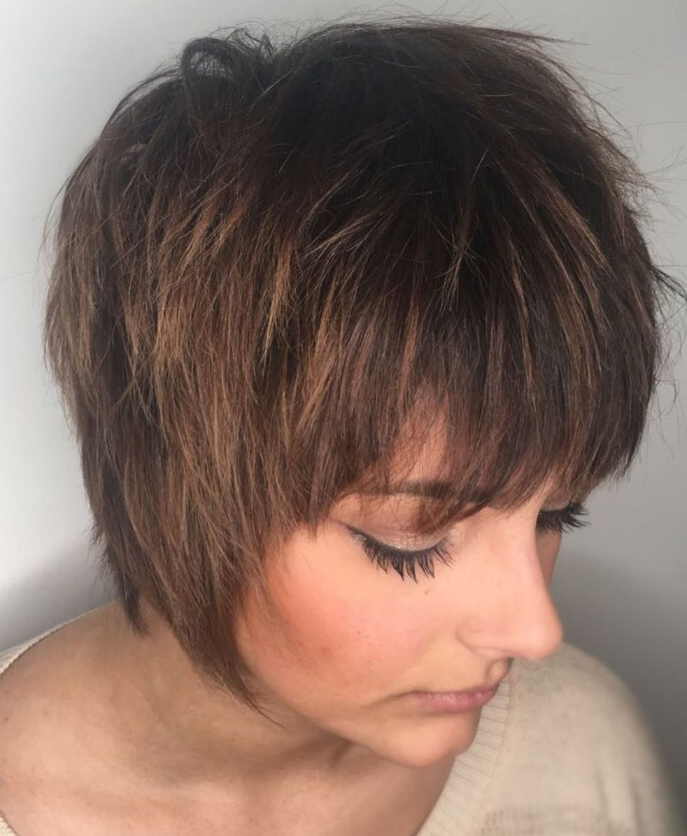 Featured Photo of Straight Long Shaggy Pixie Haircuts