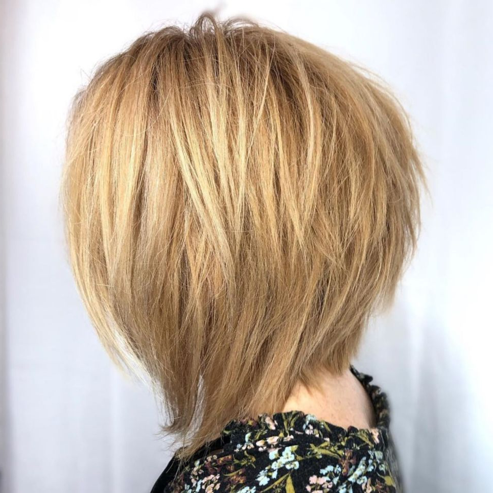 60 Short Shag Hairstyles That You Simply Can't Miss In 2019 Intended For Most Popular Layered Bob Shag Haircuts With Balayage (View 7 of 20)