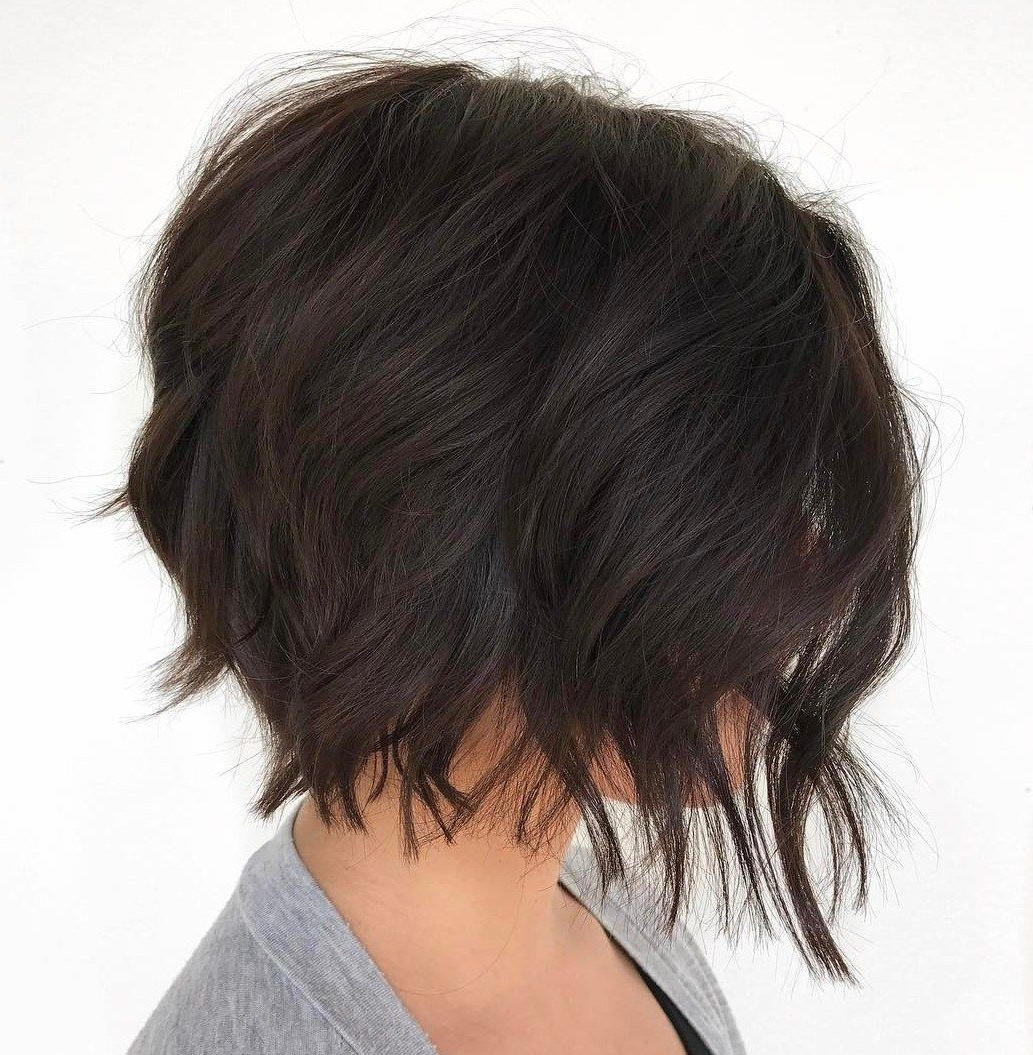 60 Short Shag Hairstyles That You Simply Can't Miss In 2019 Pertaining To Short Bob Hairstyles With Textured Waves (Gallery 12 of 20)