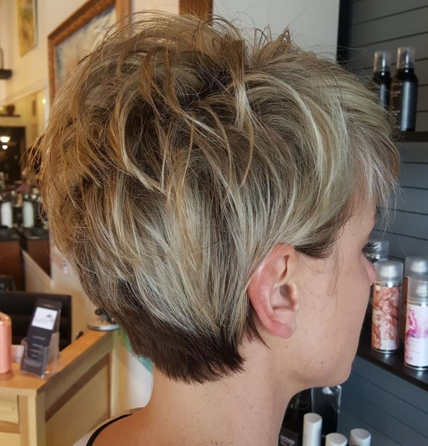 60 Short Shag Hairstyles That You Simply Can't Miss In 2019 Regarding Two Tone Feathered Pixie Haircuts (View 2 of 20)