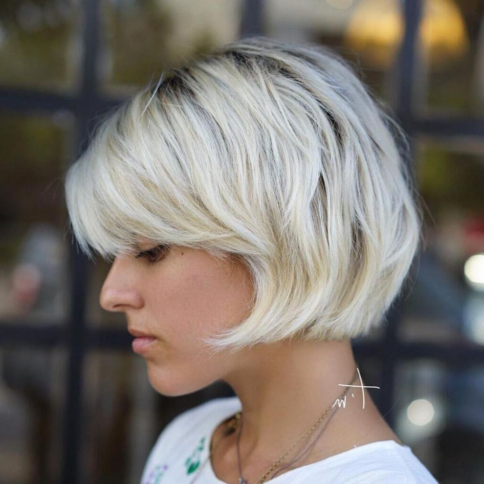 60 Short Shag Hairstyles That You Simply Can't Miss In 2019 With Jaw Length Shaggy Bob Hairstyles (Gallery 3 of 20)