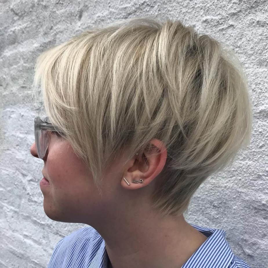 60 Short Shag Hairstyles That You Simply Can't Miss In 2019 With Regard To Long Pixie Haircuts With Angled Layers (Gallery 1 of 20)