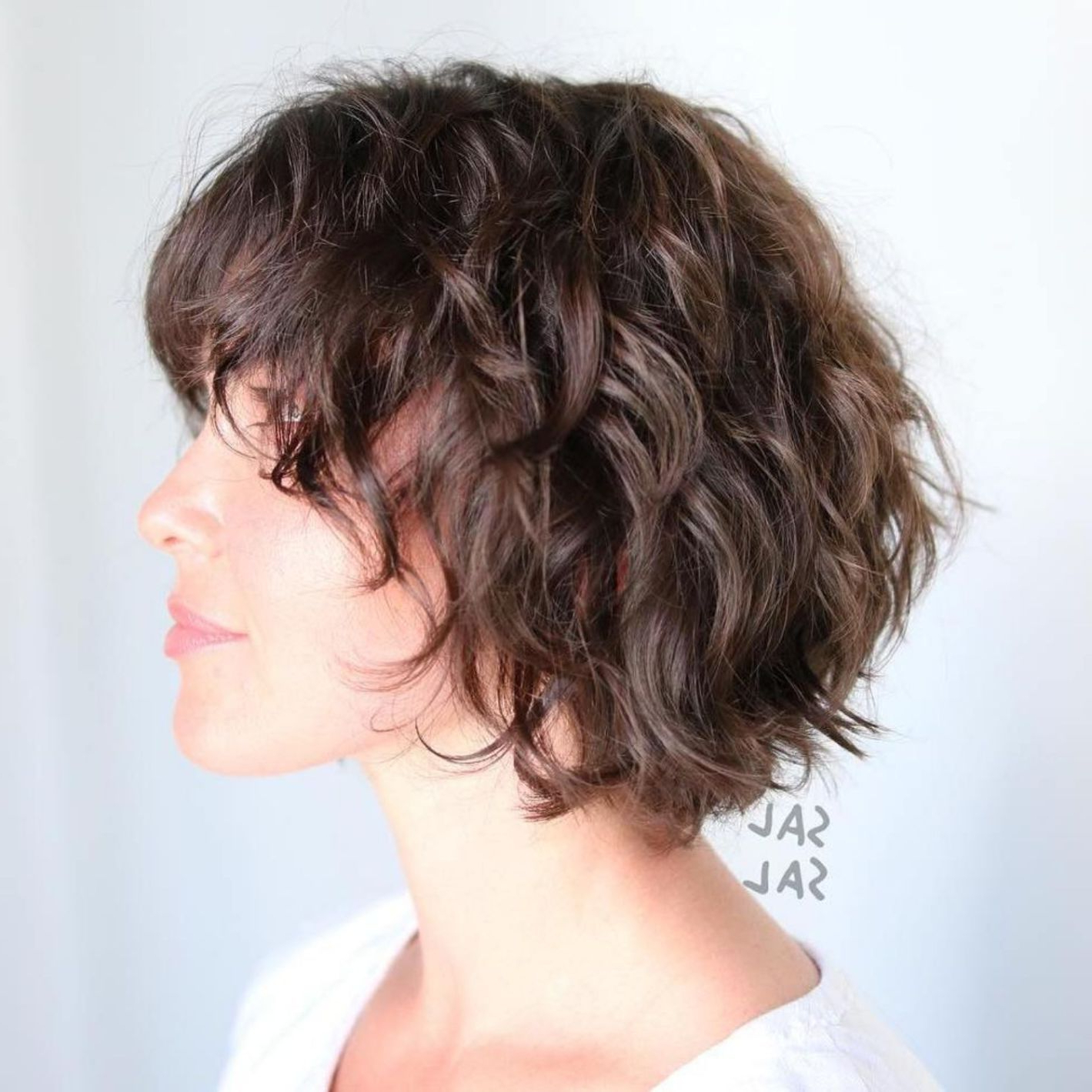60 Short Shag Hairstyles That You Simply Can't Miss In 2019 With Regard To Textured Curly Bob Haircuts (Gallery 2 of 20)