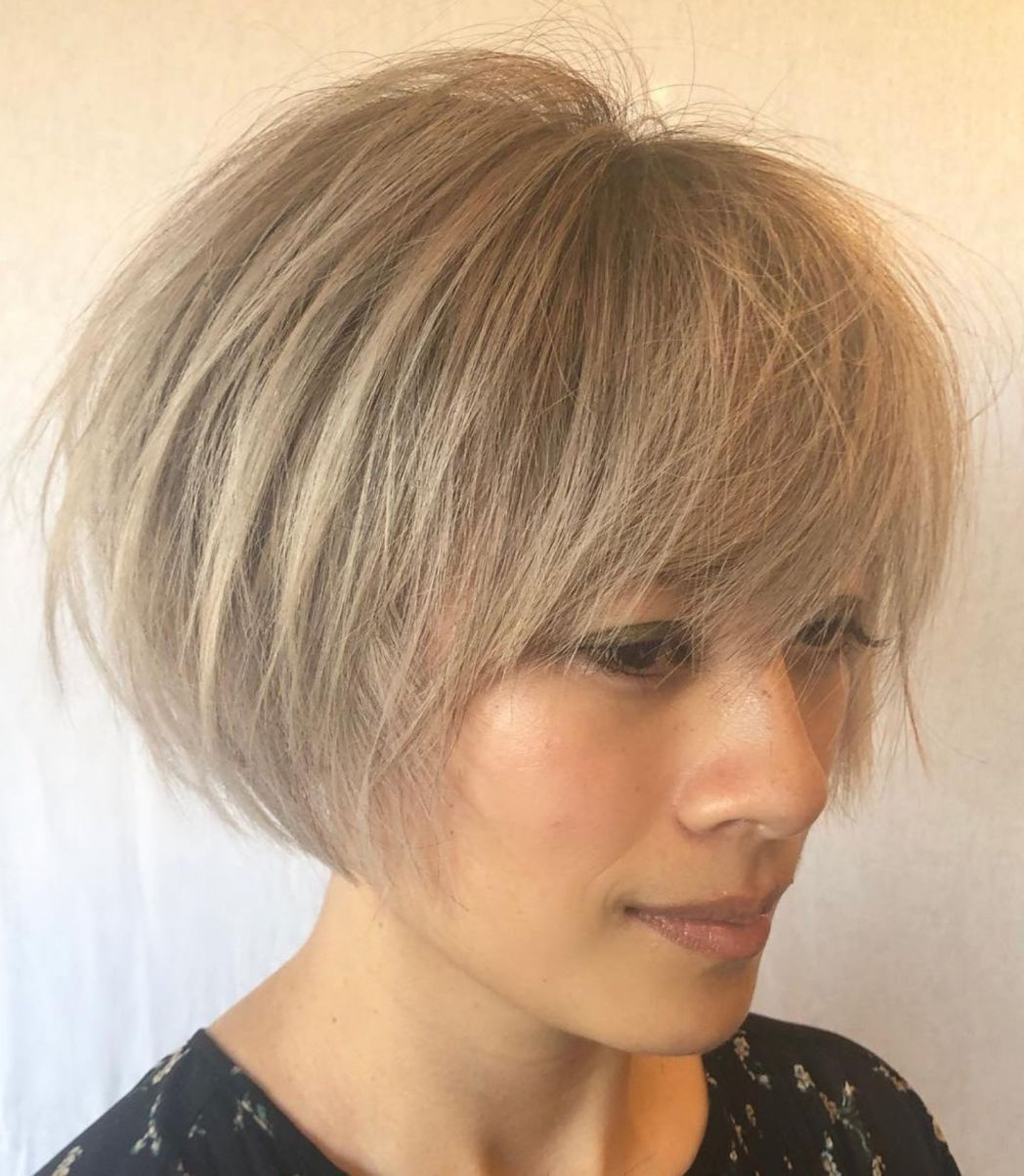 60 Short Shag Hairstyles That You Simply Can't Miss | Me Intended For Straight Wispy Jaw Length Bob Hairstyles (Gallery 1 of 20)