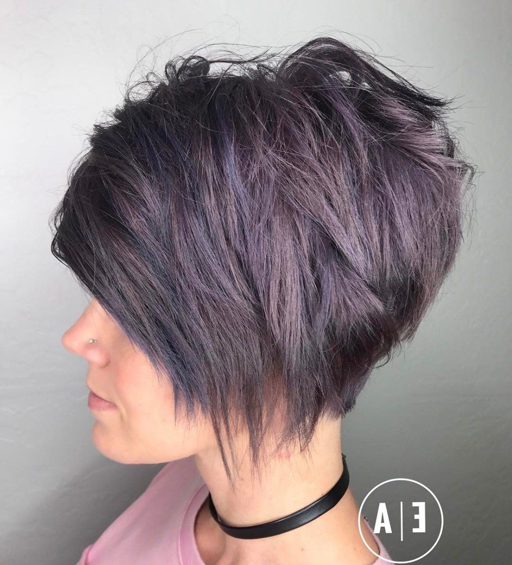Featured Photo of Dusty Lavender Short Shag Haircuts