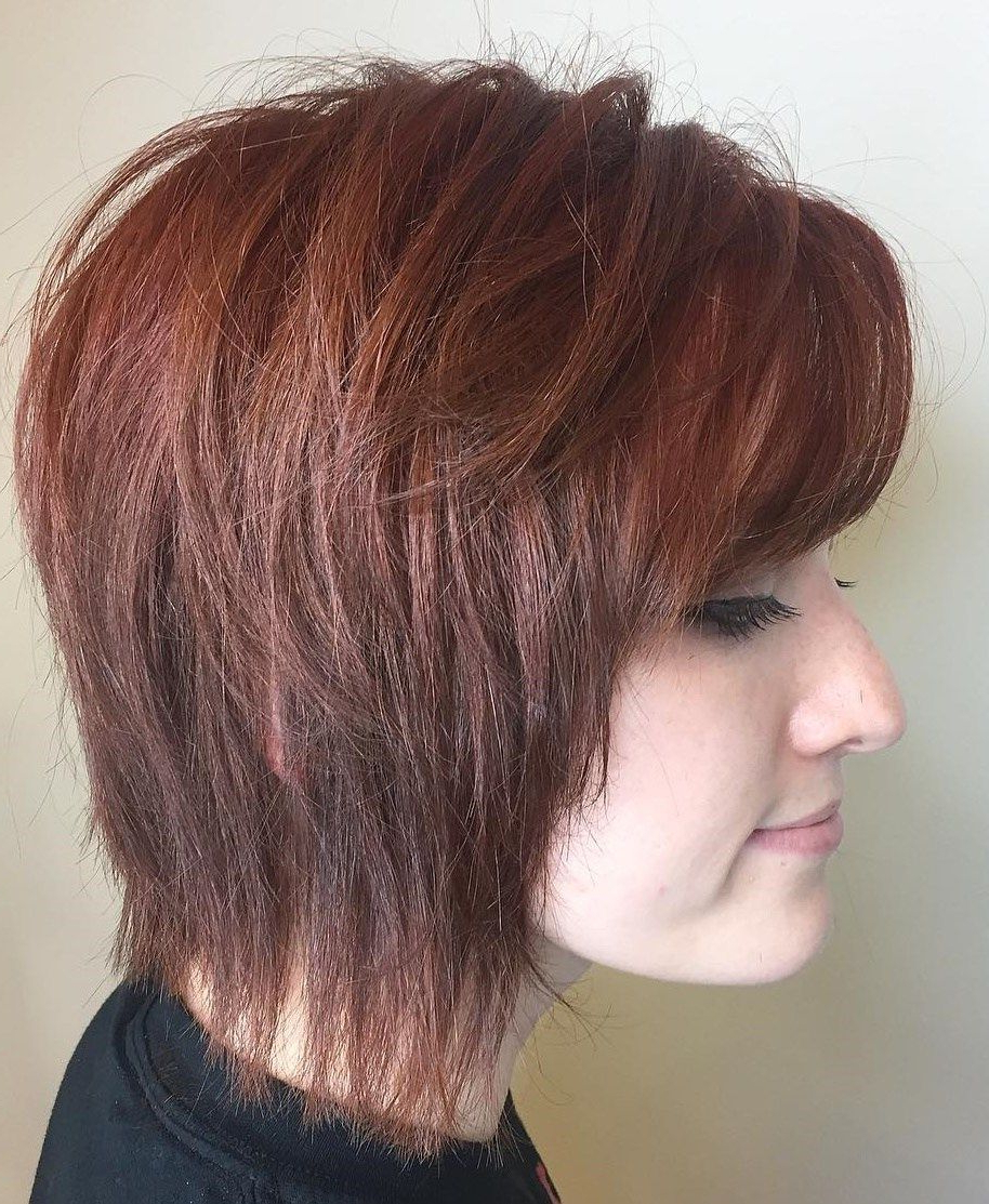 60 Short Shag Hairstyles That You Simply Can't Miss Throughout Jaw Length Shaggy Walnut Brown Bob Hairstyles (View 6 of 20)