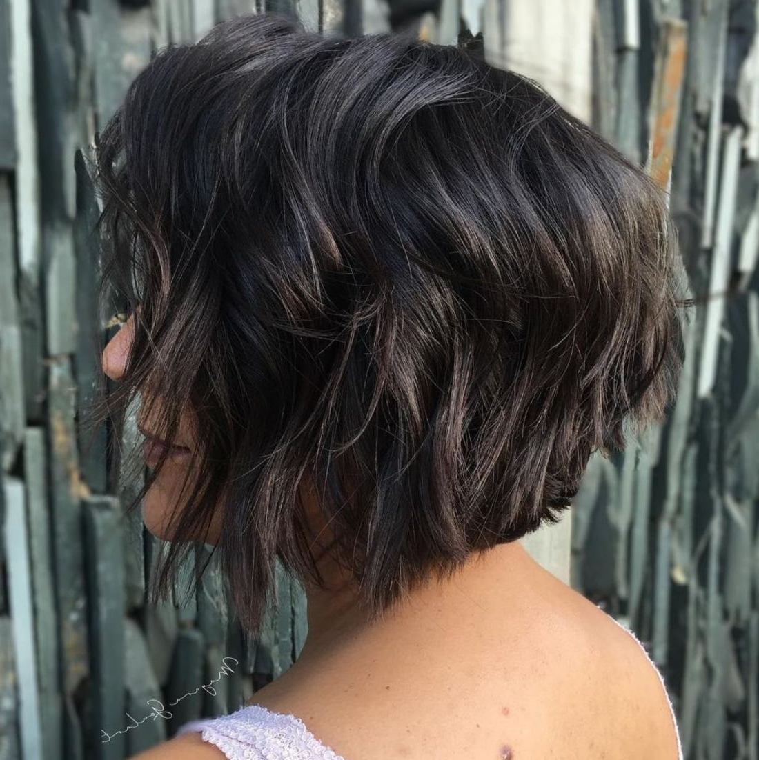 60 Short Shag Hairstyles That You Simply Can't Miss | Wavy Pertaining To Short Sliced Inverted Bob Hairstyles (View 9 of 20)