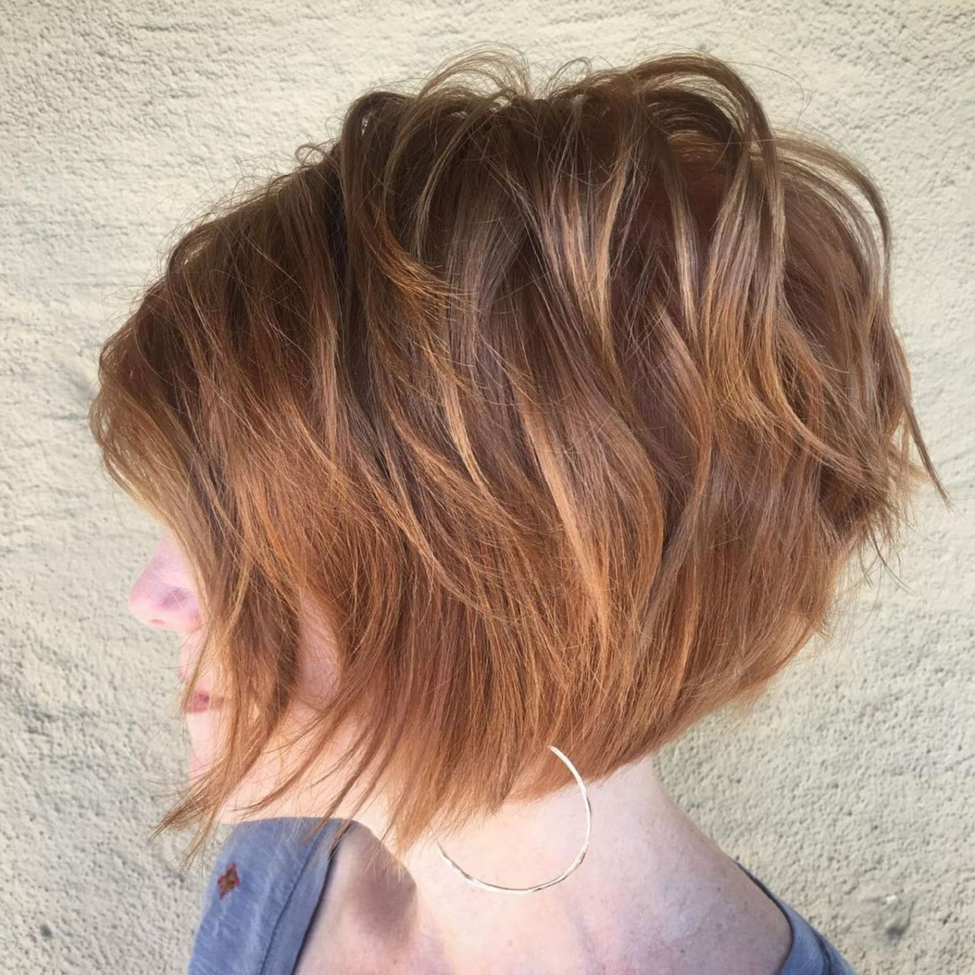 60 Short Shag Hairstyles That You Simply Can't Miss With Bronde Bob Shag Haircuts With Short Back (View 4 of 20)