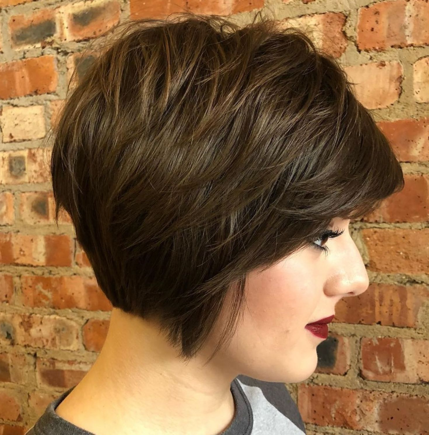 60 Short Shag Hairstyles That You Simply Can't Miss With Regard To Jaw Length Shaggy Bob Hairstyles (Gallery 5 of 20)