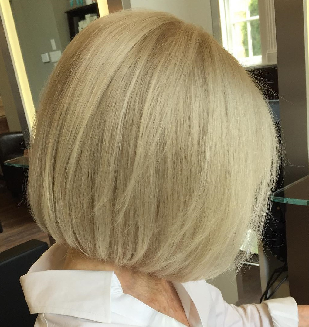 60 Trendiest Hairstyles And Haircuts For Women Over 50 In 2019 Inside Most Recently Released Shoulder Grazing Flared Blonde Shag Haircuts (Gallery 11 of 20)