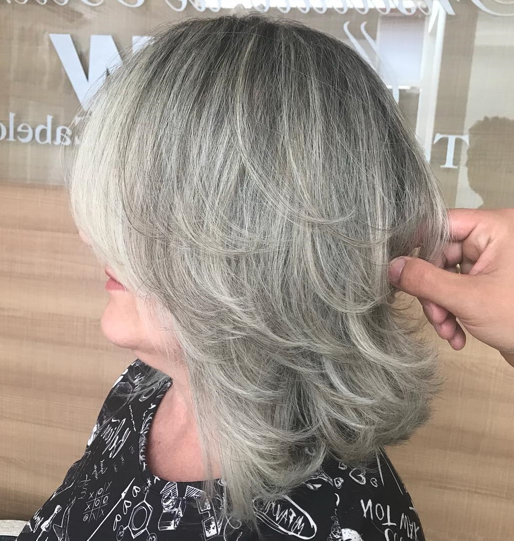 60 Trendiest Hairstyles And Haircuts For Women Over 50 In 2019 Regarding Most Recent Silver Shag Haircuts With Feathered Layers (View 11 of 20)