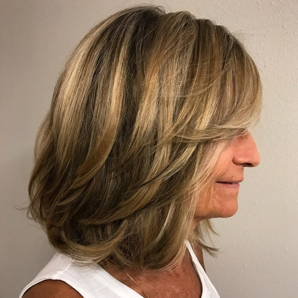 60 Trendiest Hairstyles And Haircuts For Women Over 50 In 2019 Regarding Popular Medium Haircuts With Flipped Ends For Thick Hair (View 11 of 20)