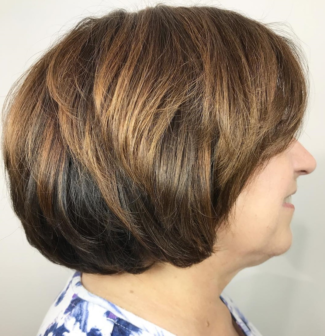 60 Trendiest Hairstyles And Haircuts For Women Over 50 In 2019 With Razored Honey Blonde Bob Hairstyles (View 15 of 20)
