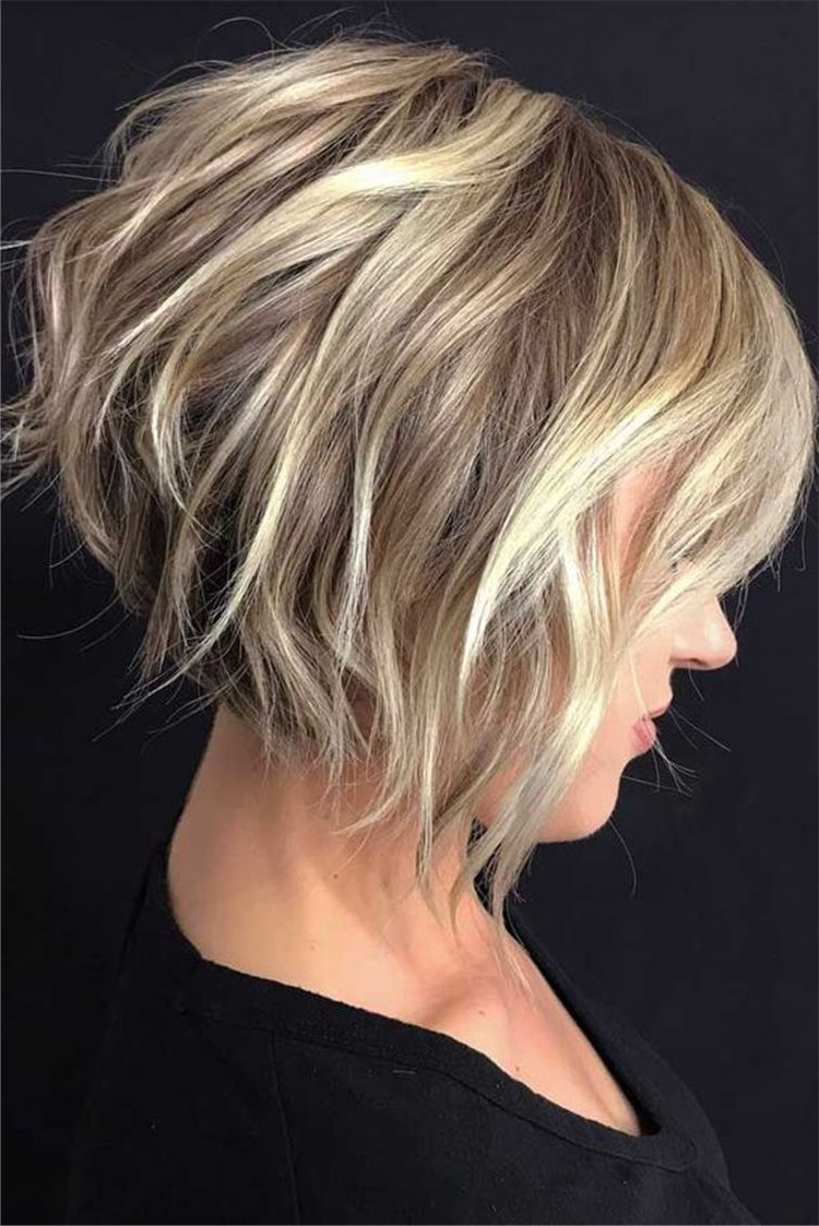 60+ Trendy And Chic Bob Hairstyles For Women In 2019 – Page With Short Shag Blunt Haircuts (View 11 of 20)