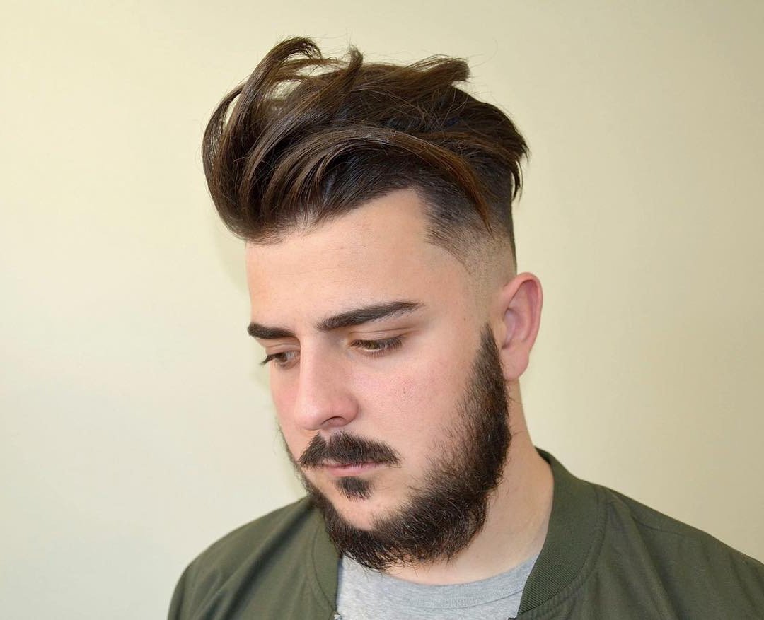 65 Glamorous Men's Haircuts For Round Faces  Trendy And For Brushed Back Hairstyles For Round Face Types (View 1 of 20)