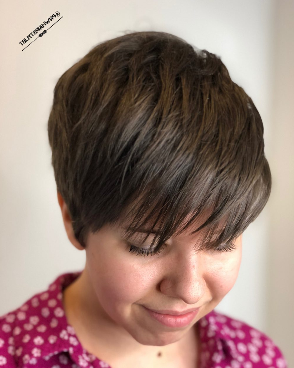 66 Flattering Short Hairstyles For Thick Hair (2019 Pics) Regarding Neat Pixie Haircuts For Gamine Girls (View 15 of 20)
