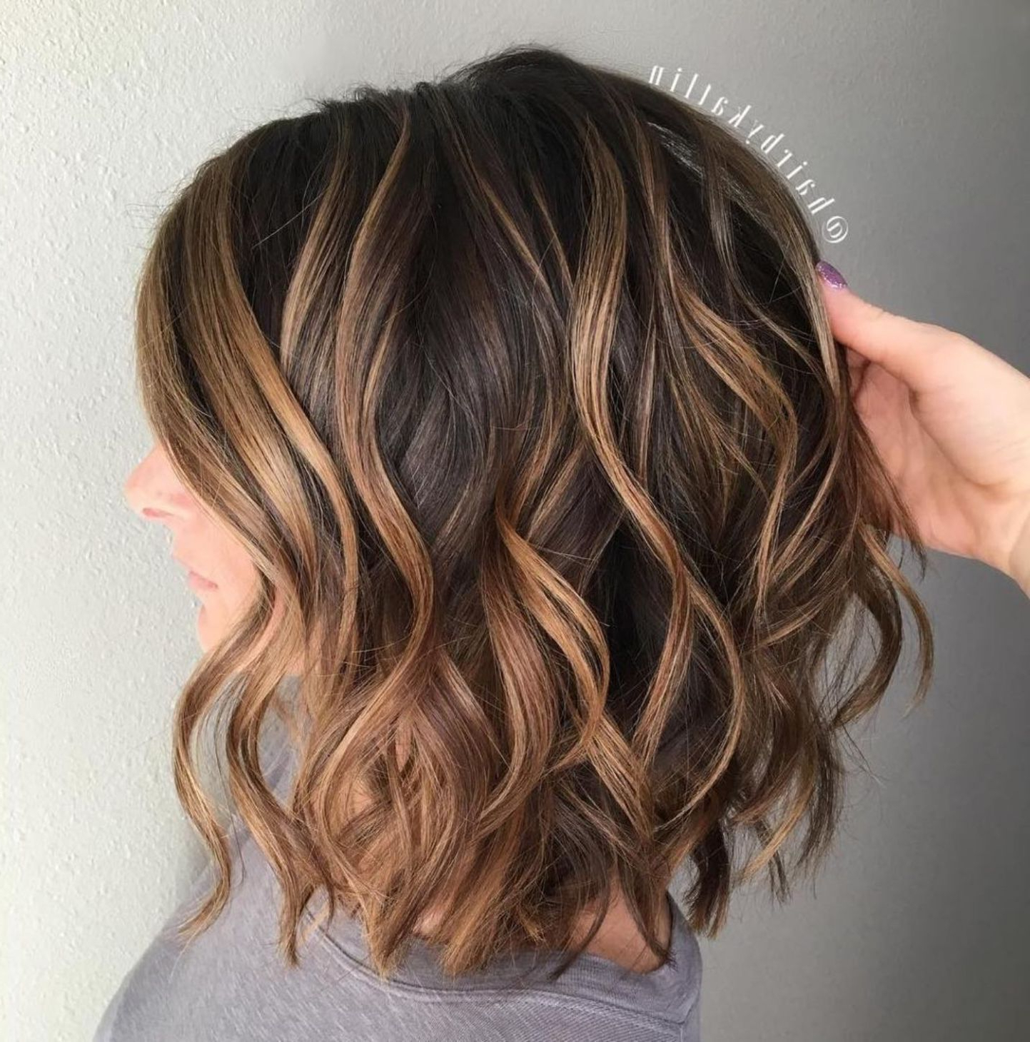 70 Brightest Medium Layered Haircuts To Light You Up In 2019 Pertaining To Textured Curly Bob Haircuts (Gallery 16 of 20)