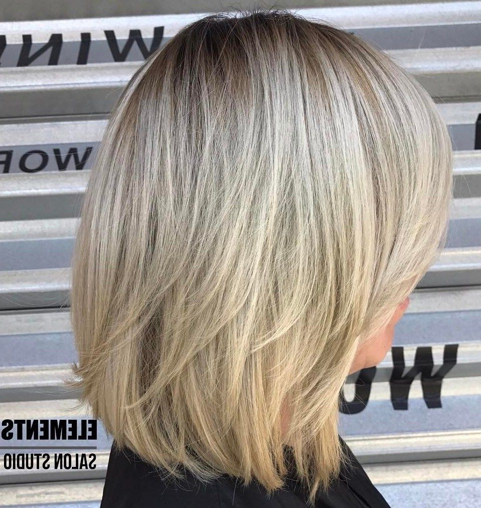 70 Brightest Medium Layered Haircuts To Light You Up In 2019 Regarding Layered Haircuts With Delicate Feathers (View 2 of 20)
