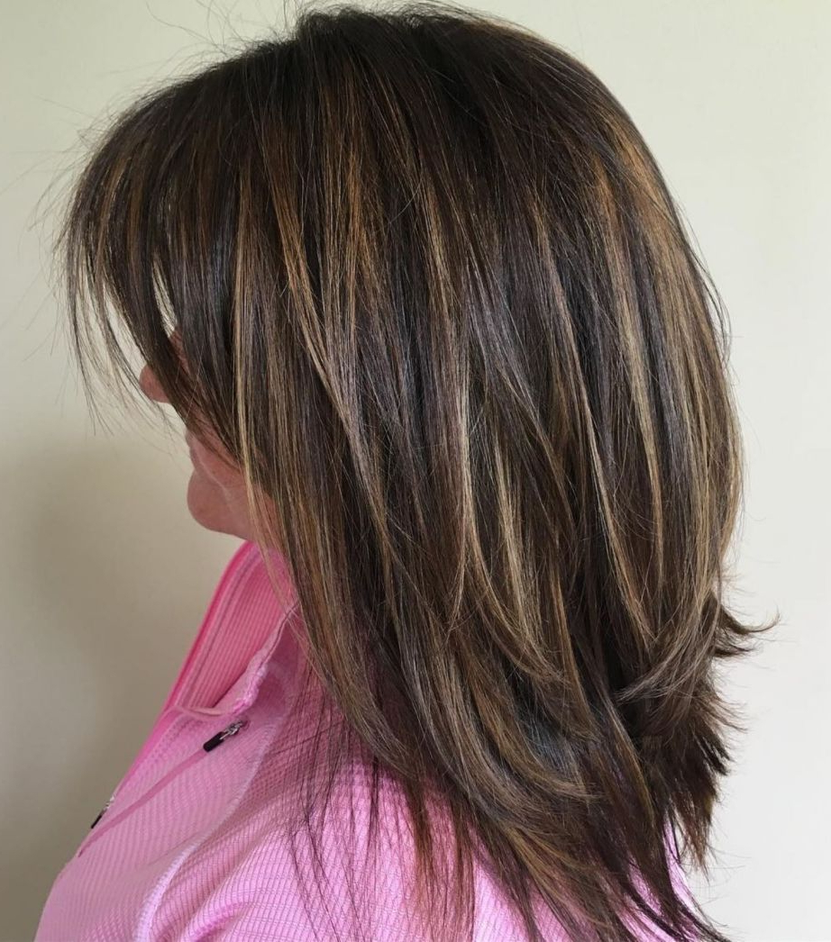 70 Brightest Medium Layered Haircuts To Light You Up In 2019 Throughout 2018 Medium Haircuts With Feathered Ends (Gallery 20 of 20)