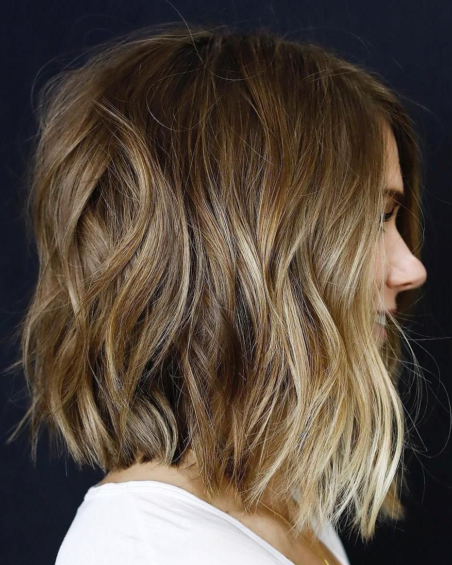 70 Brightest Medium Layered Haircuts To Light You Up Throughout Favorite Collarbone Bronde Shag Haircuts (View 10 of 20)