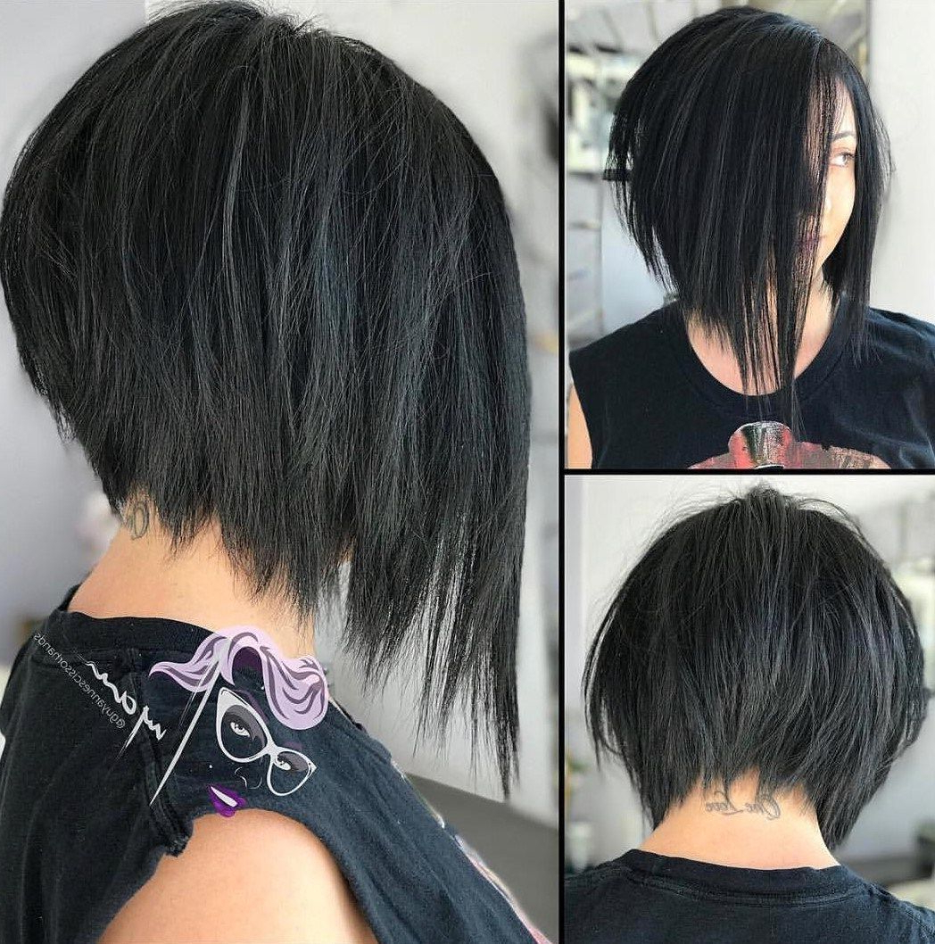 70 Cute And Easy To Style Short Layered Hairstyles In 2019 Intended For Asymmetrical Grunge Bob Hairstyles (View 2 of 20)