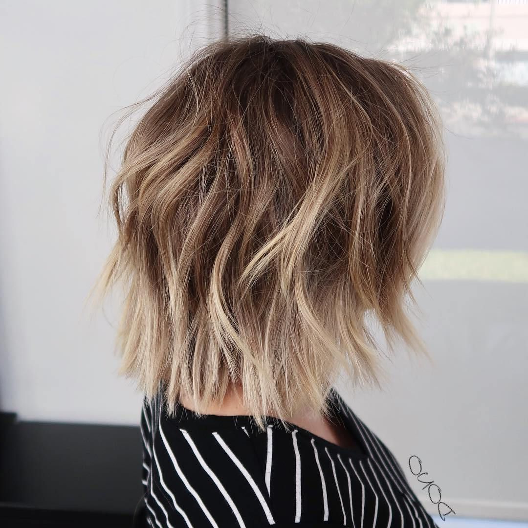 70 Devastatingly Cool Haircuts For Thin Hair | Hair | Thin Pertaining To Disconnected Shaggy Brunette Bob Hairstyles (View 3 of 20)