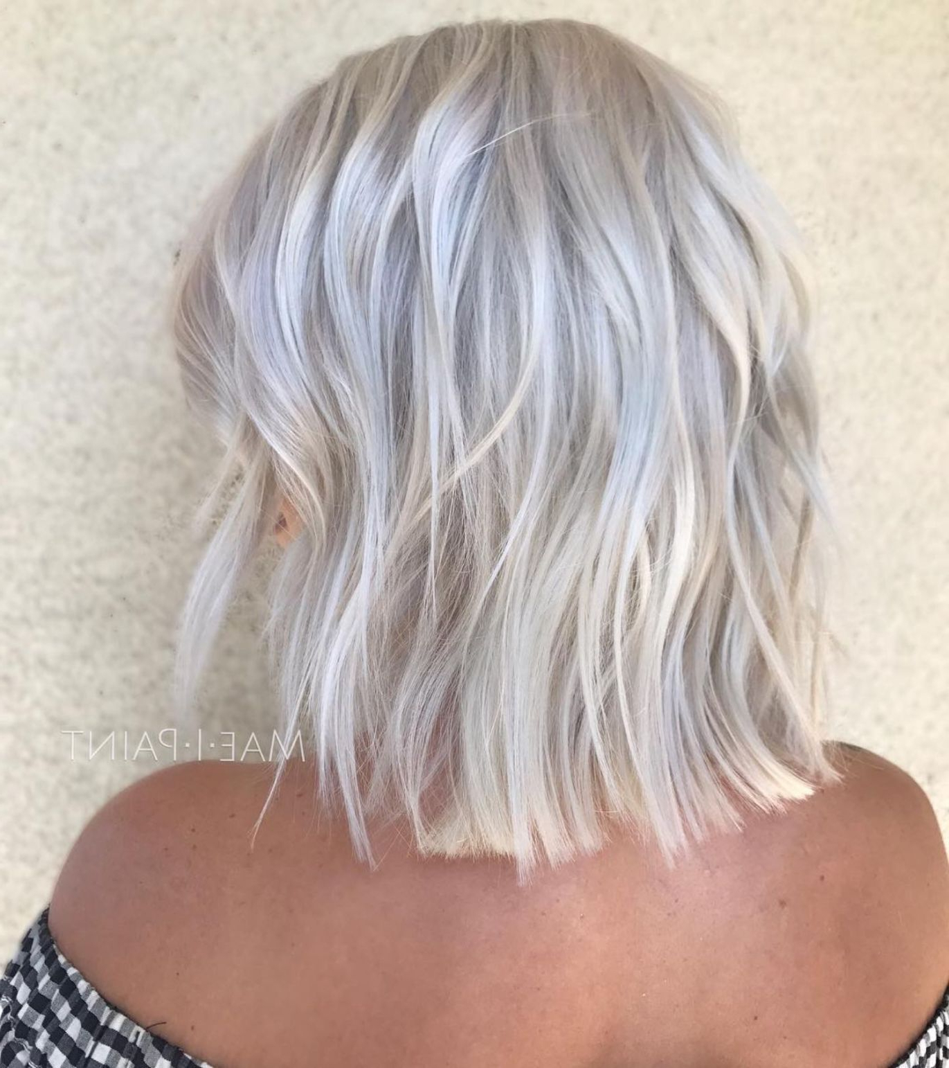 70 Devastatingly Cool Haircuts For Thin Hair In 2019 | Short In Silver White Shaggy Haircuts (Gallery 6 of 20)
