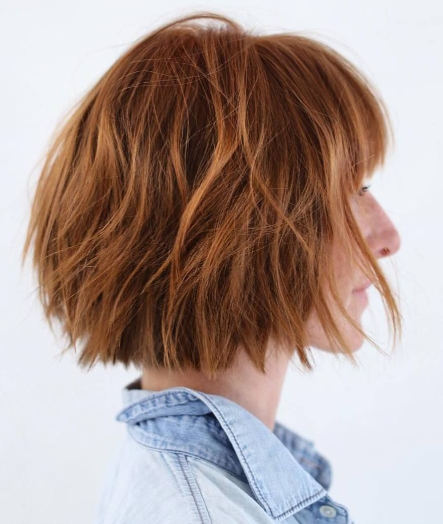 70 Fabulous Choppy Bob Hairstyles | Choppy Bob Hairstyles Intended For Short Chopped Bob Hairstyles With Straight Bangs (Gallery 11 of 20)