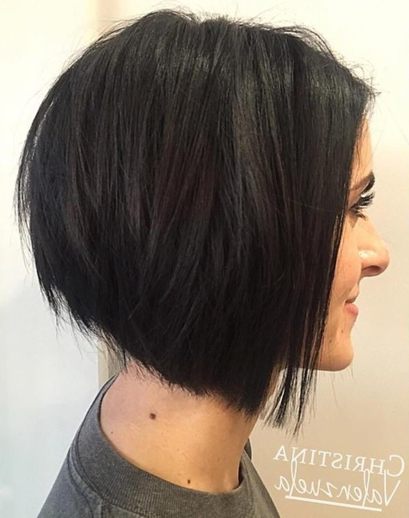 70 Fabulous Choppy Bob Hairstyles In 2019 | A Line Haircut With Angled Bob Hairstyles With Razored Ends (View 3 of 20)