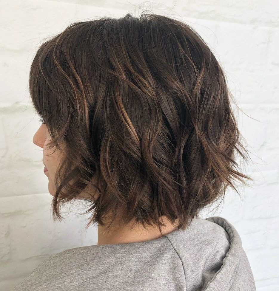 70 Fabulous Choppy Bob Hairstyles In 2019 | Bob Hairstyles Throughout Layered Haircuts With Delicate Feathers (View 3 of 20)