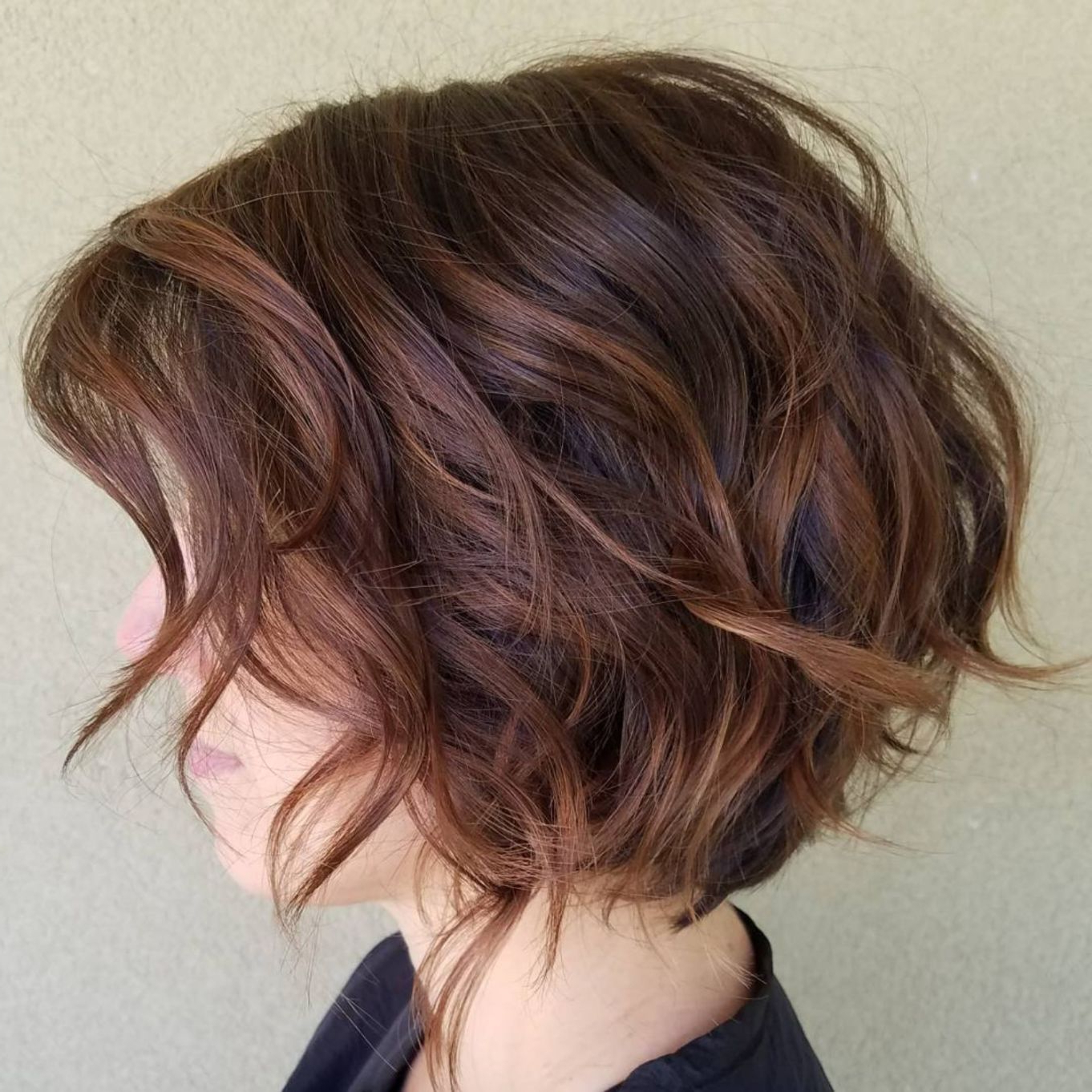 Featured Photo of Short Chocolate Bob Hairstyles With Feathered Layers