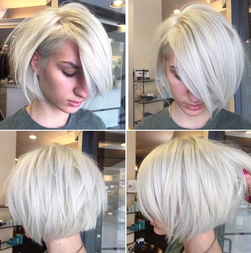 70 Fabulous Choppy Bob Hairstyles In 2019 | Short Hair In Voluminous Short Choppy Blonde Bob Hairstyles (View 2 of 20)