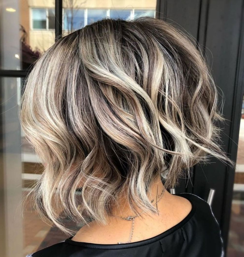 70 Fabulous Choppy Bob Hairstyles In 2019 | Short Hair With Regard To Tapered Shaggy Chocolate Brown Bob Hairstyles (View 2 of 20)