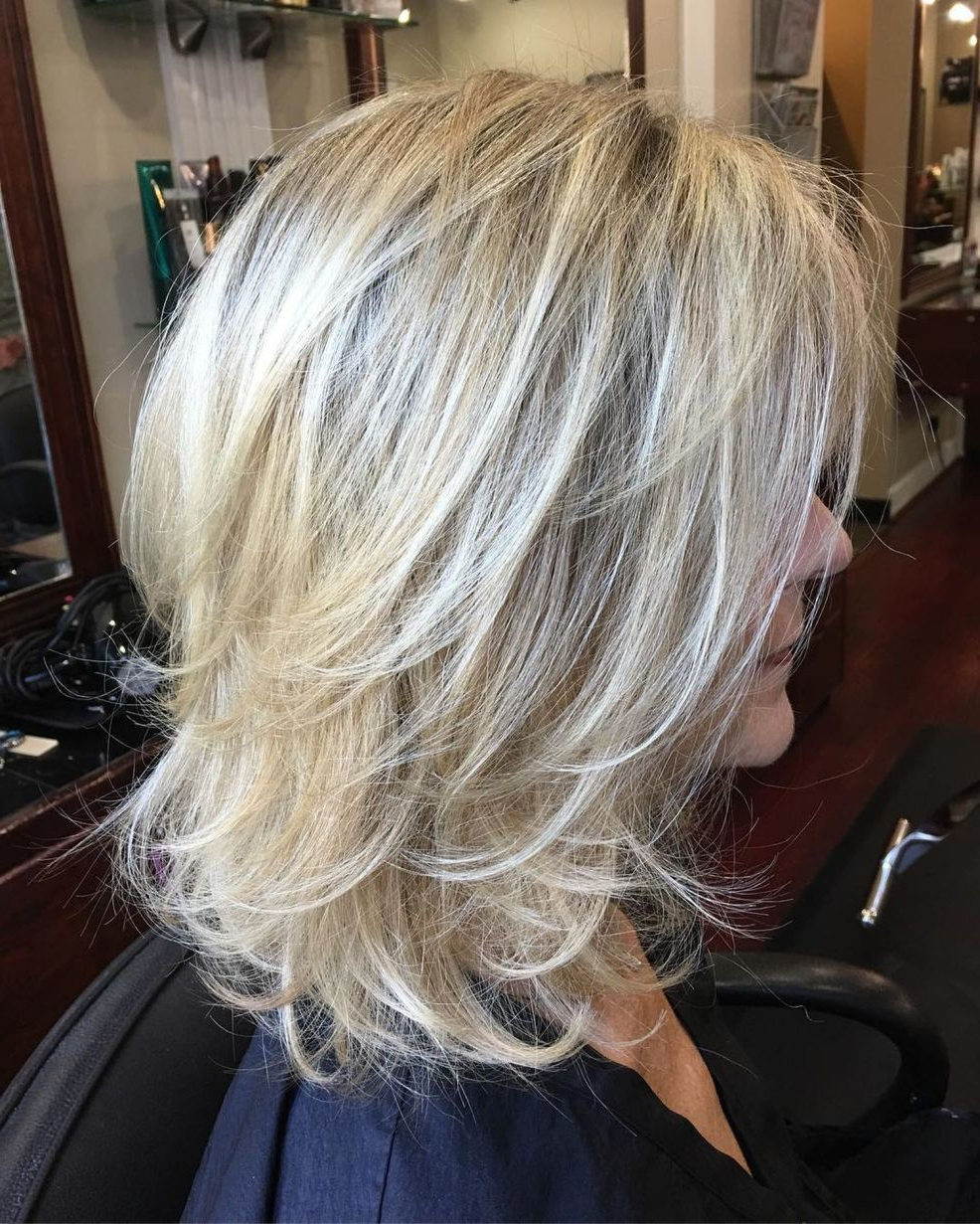 70 Perfect Medium Length Hairstyles For Thin Hair In 2019 Throughout Favorite Mid Length Light Blonde Shag Haircuts With Bangs (View 6 of 20)