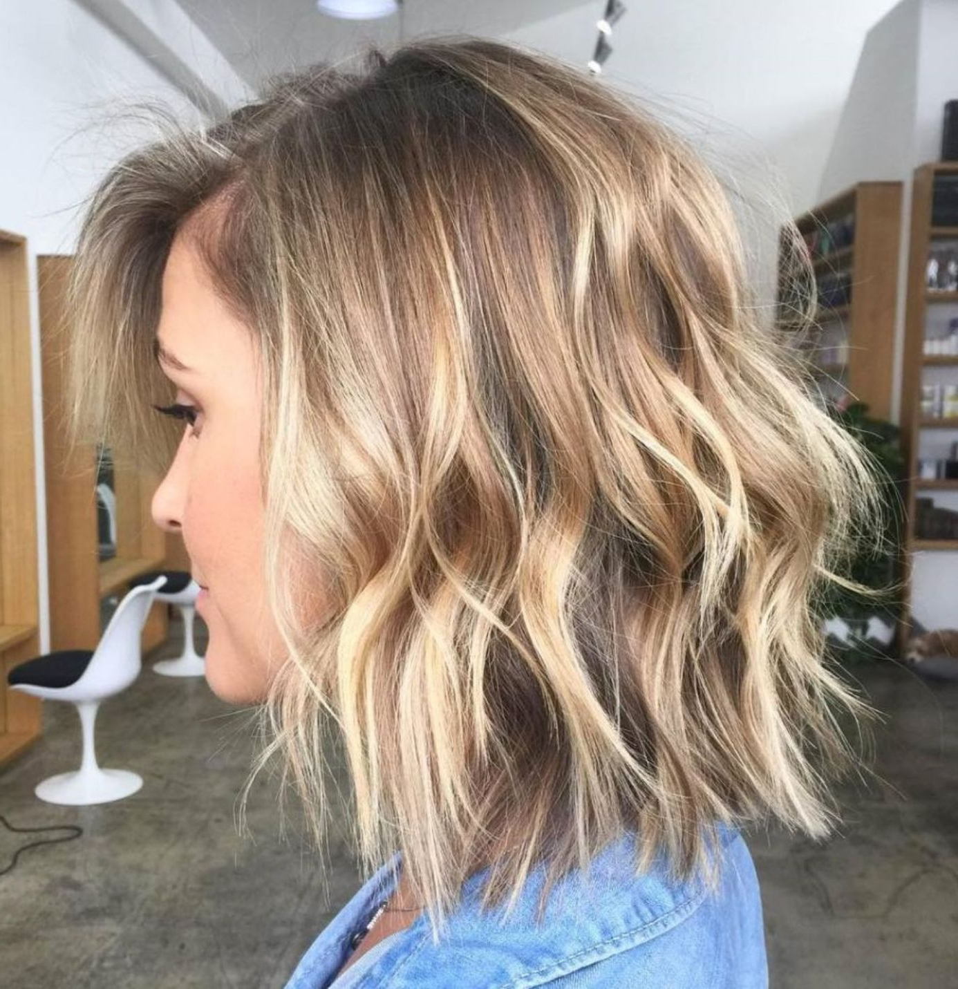 70 Perfect Medium Length Hairstyles For Thin Hair In 2019 With Short Warm Blonde Shag Haircuts (View 5 of 20)