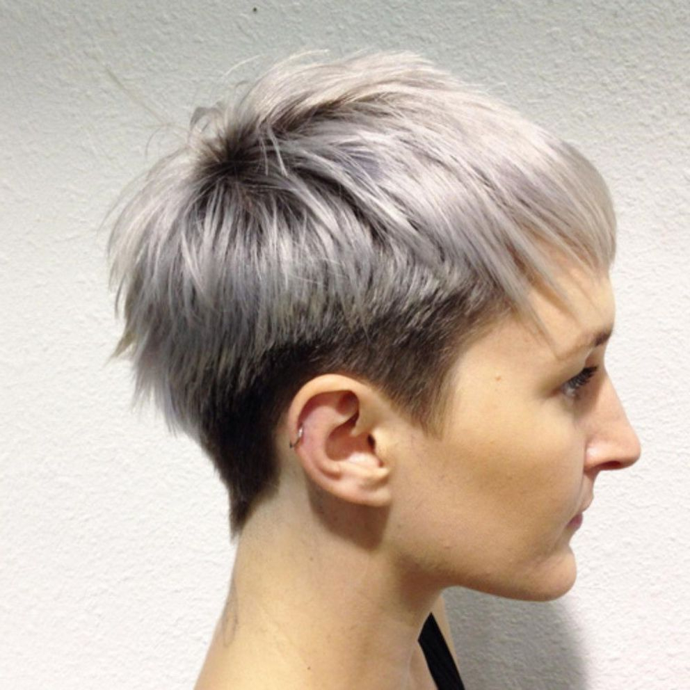 Featured Photo of Two Tone Feathered Pixie Haircuts